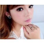 韩版缠绕戒指女指环三色金经典款简约时尚三圈食指戒指