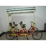 批发奥威特四人自行车 并排四人车 四轮双排观光车