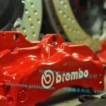 丰田凯美瑞 锐志 皇冠 改装brembo 19Z 刹车卡钳