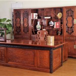 大展鸿图大班台-缅甸花梨家具-红木大班台-厂家直销-新中式家具