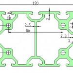 80120工业铝型材
