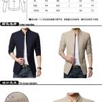 韩版立领纯色夹克时尚休闲中长款修身青年男外套