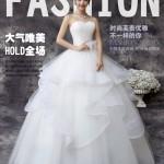 2015新款婚纱礼服夏季韩版新娘齐地抹胸王微微蓬蓬裙蕾丝时尚修身